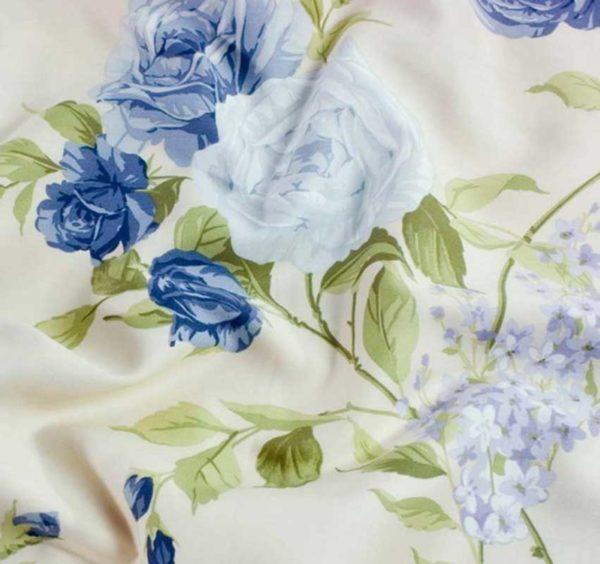 Dekbedovertrek Dommelin Flowers Ginevra blauw
