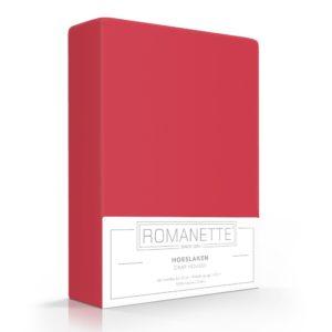 Romanette Hoeslaken Rood Katoen